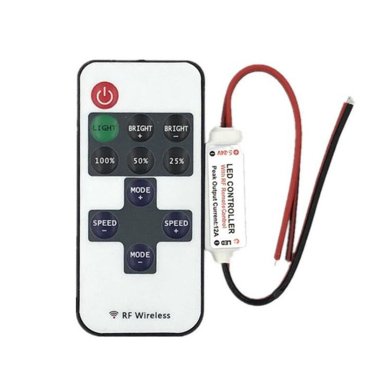 11key RF remote wireless Dimmer controller with Connect line - SupplyLedStrip
