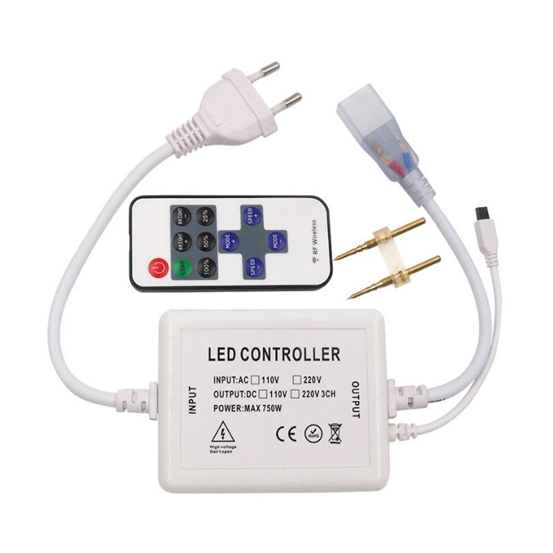 Single color led strip 110V 220V 11keys IR remote Dimmer controller - SupplyLedStrip