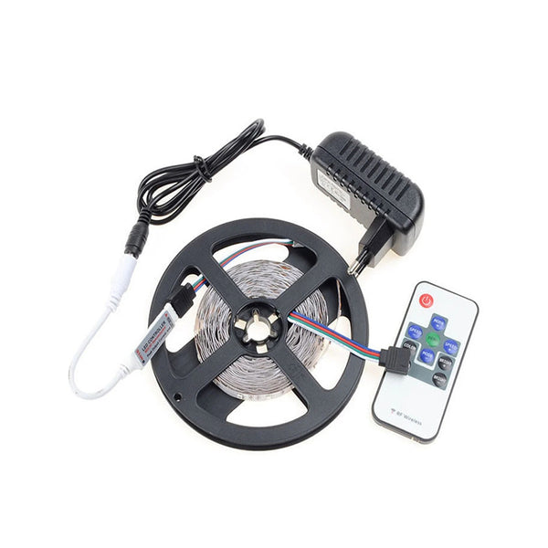 5M SMD 2835 RGB LED Strip 60Leds/m with 10Key controller Adapter - SupplyLedStrip