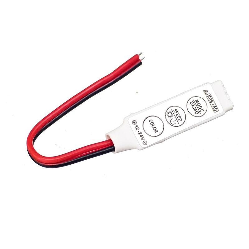 DC12V Led Strip 3 Button RGB Mini Controller  - SupplyLedStrip