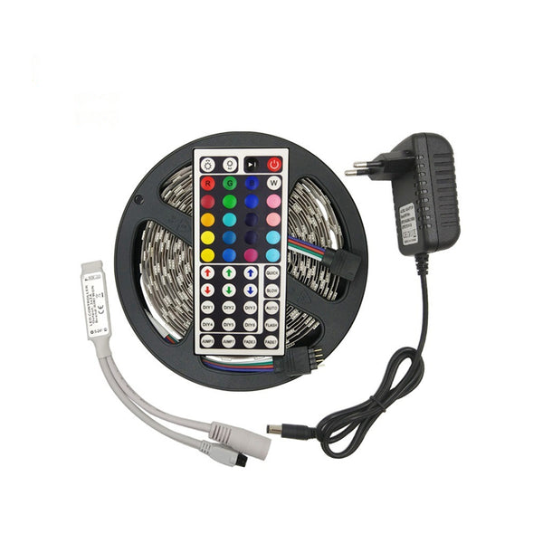 5M SMD 5050 RGB led strip 30Leds/m with Adapter IR Controller - SupplyLedStrip