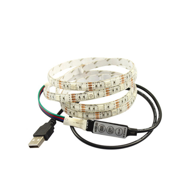 5V 5050 RGB Led strip 60Leds/m with Mini 3 Key Controller - SupplyLedStrip