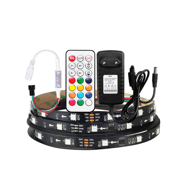 5M 5050 WS2811 IC RGB LED strip 30Led/m with Controller Adapter - SupplyLedStrip