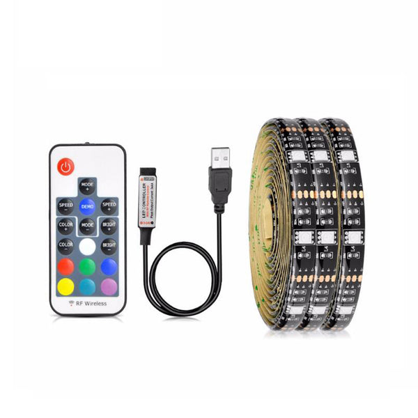 5V 5050 30Leds/m USB RGB LED strip with 17 Keys RF controller - SupplyLedStrip