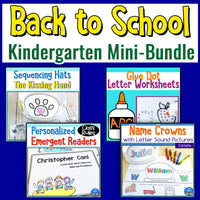 Back to School Kindergarten Mini-Bundle