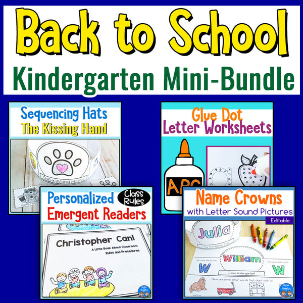 Back to School Kindergarten Mini-Bundle SPECIAL DEAL