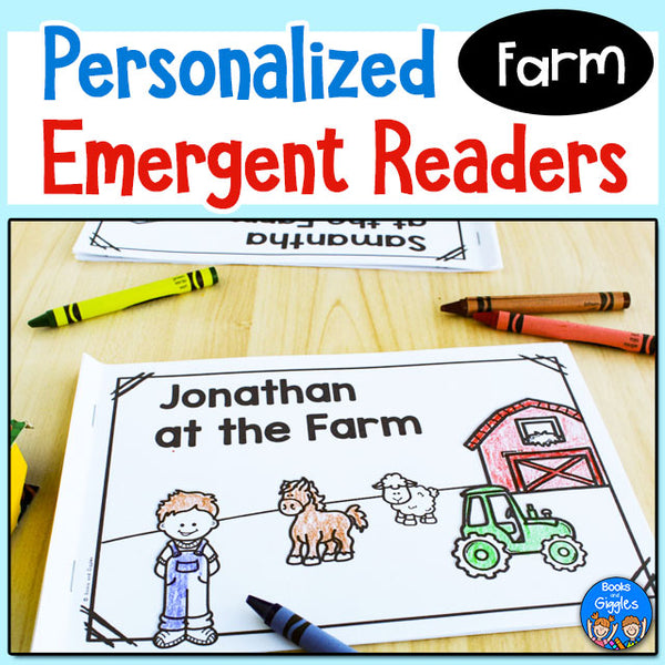 Farm Emergent Readers - Personalized for Each Child