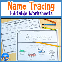 Editable Name Tracing Worksheets