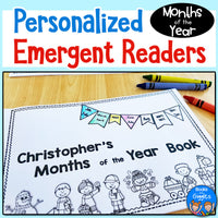 Months of the Year Personalized Emergent Reader