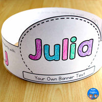 Editable Name Crowns with Letter Sounds