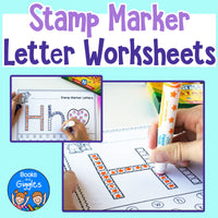 Letter Recognition Worksheets for Stamp Markers