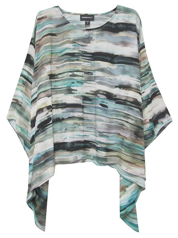 FLARE HEM WATERCOLOR TOP