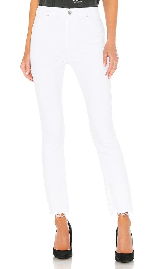 BARBARA HIGH WAIST SKINNY  RAW HEM ANKLE