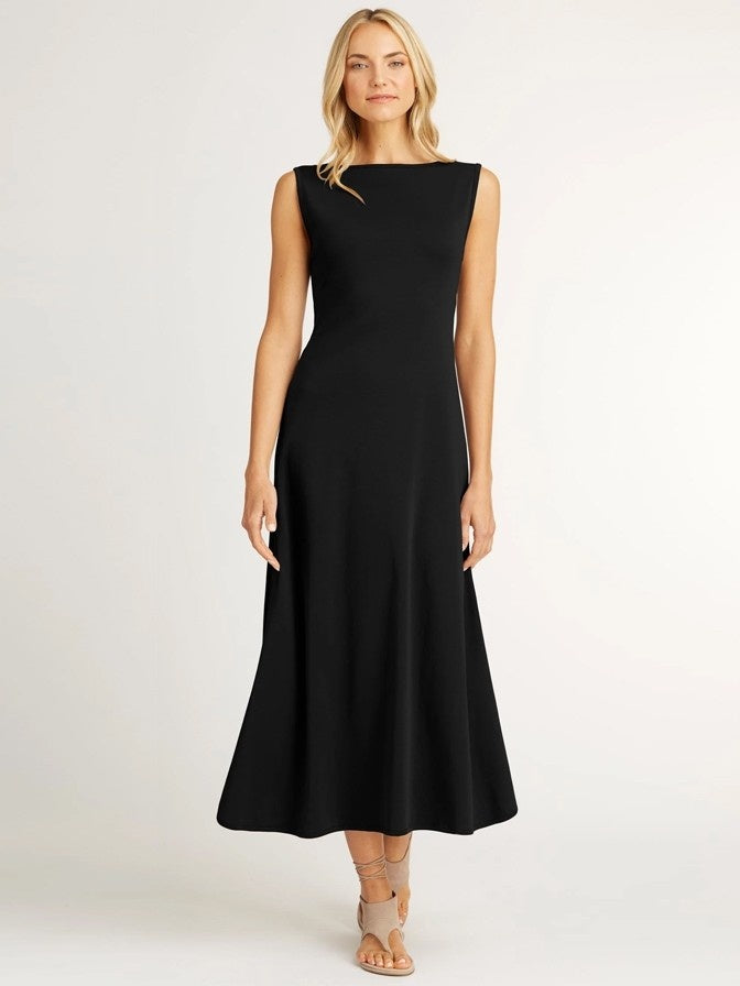 ESSENTIAL BOATNECK DRESS