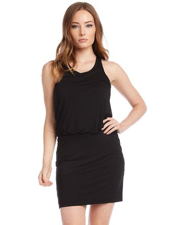 RACERBACK DRESS - BLACK