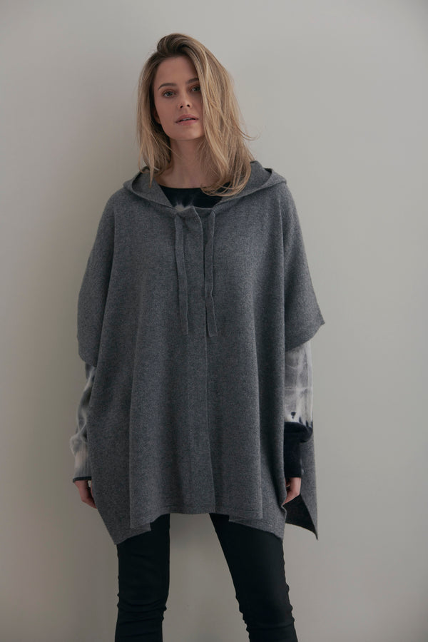 ALEXIS HOODED CASHMERE CAPE