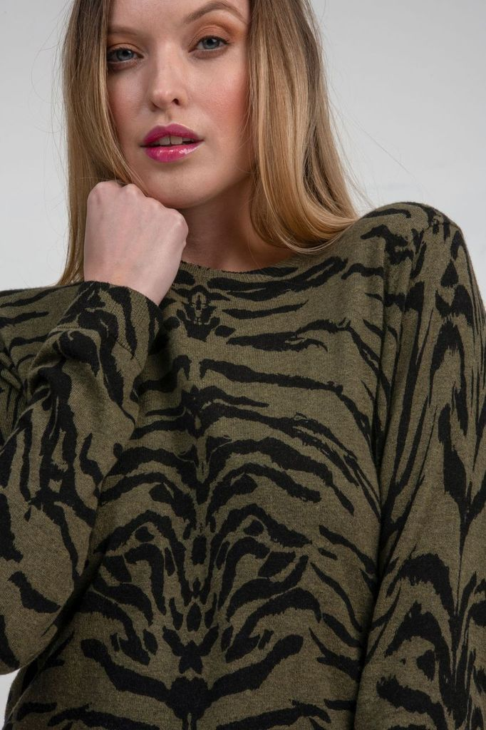ZOE ZEBRA SWEATER