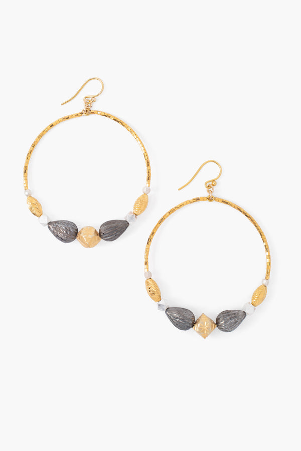 18K GOLD MIX HOOP EARRINGS