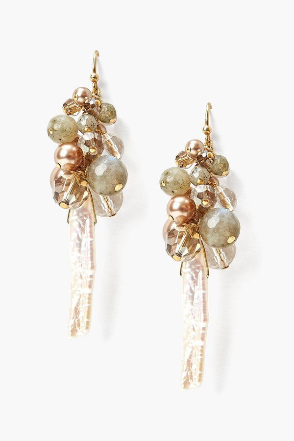 CHAMPAGNE FETE EARRINGS