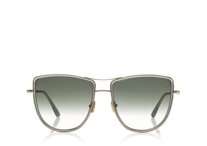 Tom Ford - TINA - SHINY ROSE GOLD/LIGHT GREY