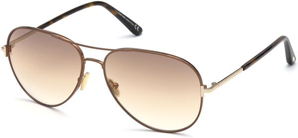 TOM FORD CLARK - SHINY DARK BROWN