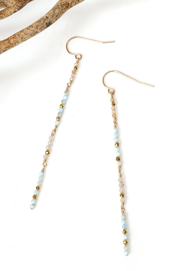 Larimar Duster Earrings