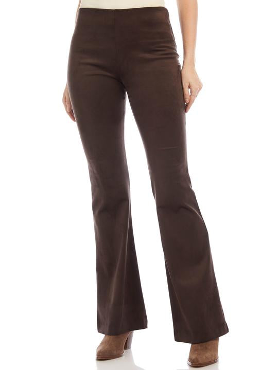 HIGH WAIST FAUX SUEDE PANT