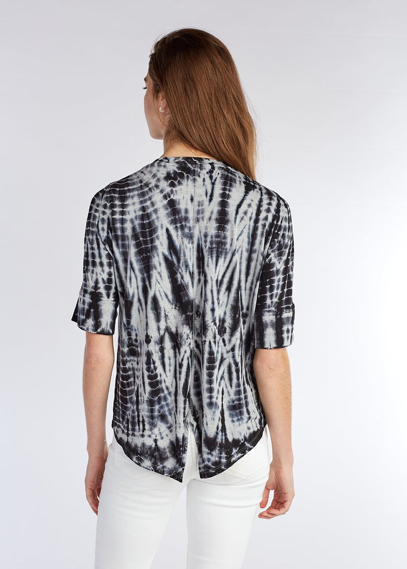 SPLIT BACK DROP SHOULDER TOP