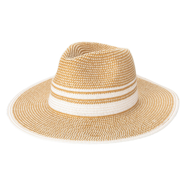 WOMEN'S TICKING STRIPED FEDORA