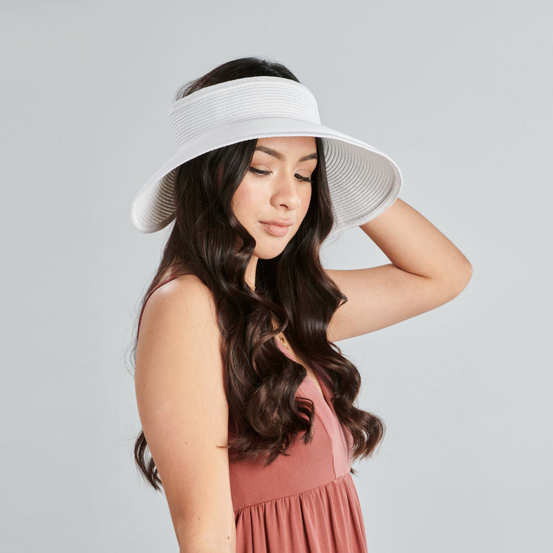 WOMENS ULTRABRAID LARGE BRIM VISOR