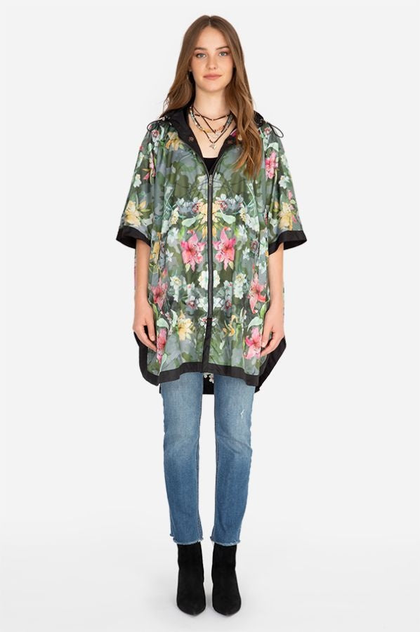ROSE RAIN PONCHO REVERSIBLE