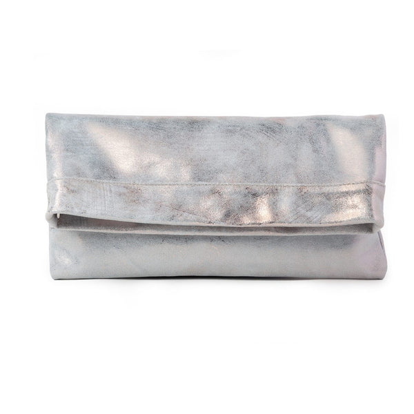 MOLLIE CLUTCH CROSSBODY BAG - ROSE GOLD WHITE