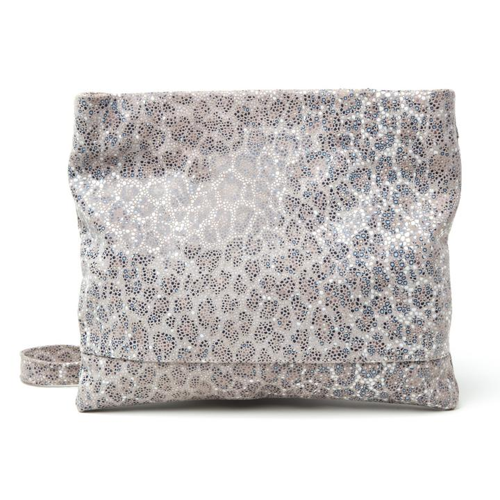 MOLLIE CLUTCH CROSSBODY BAG - LEOPARD STINGRAY