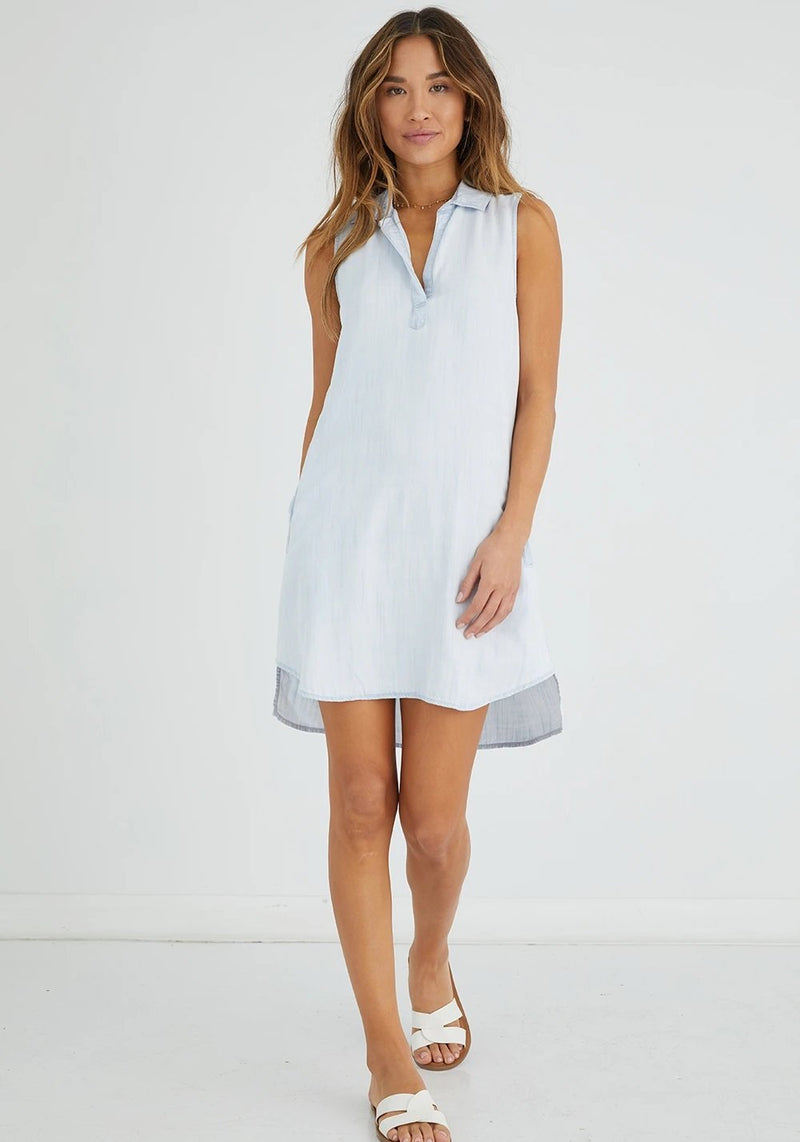 SLEEVELSS A-LINE SHIRT DRESS