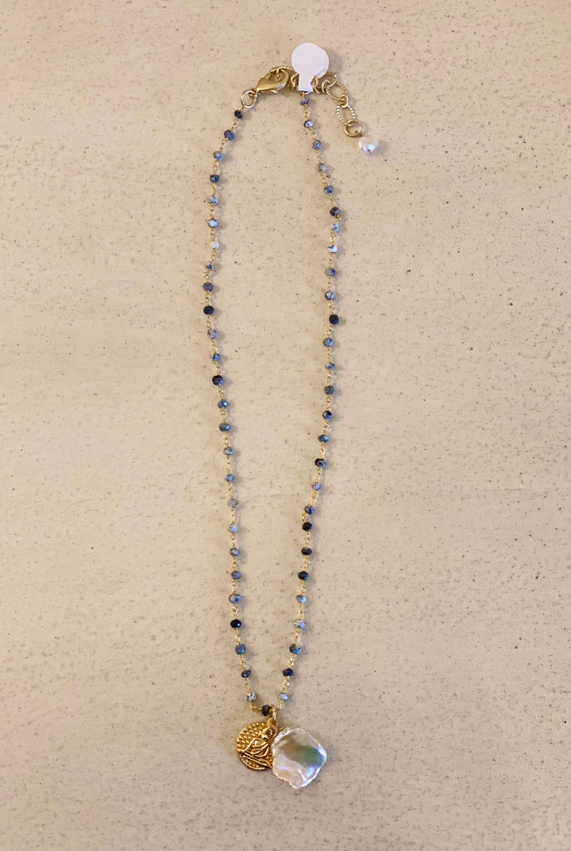 "10"" PEARL & BUDDAH NECKLACE"