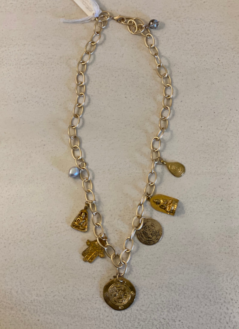 "12"" GOLD CHARM NECKLACE / BRACELET"