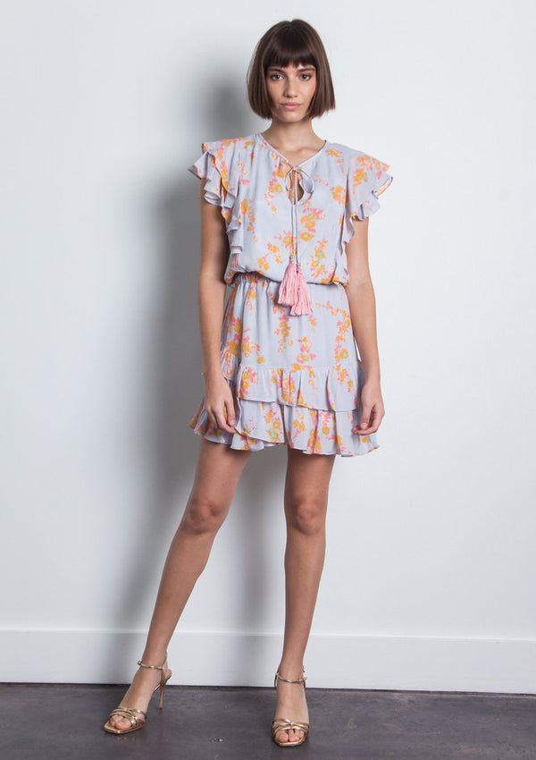 RAFA PRINT MINI DRESS - LIGHT WATER FLORAL