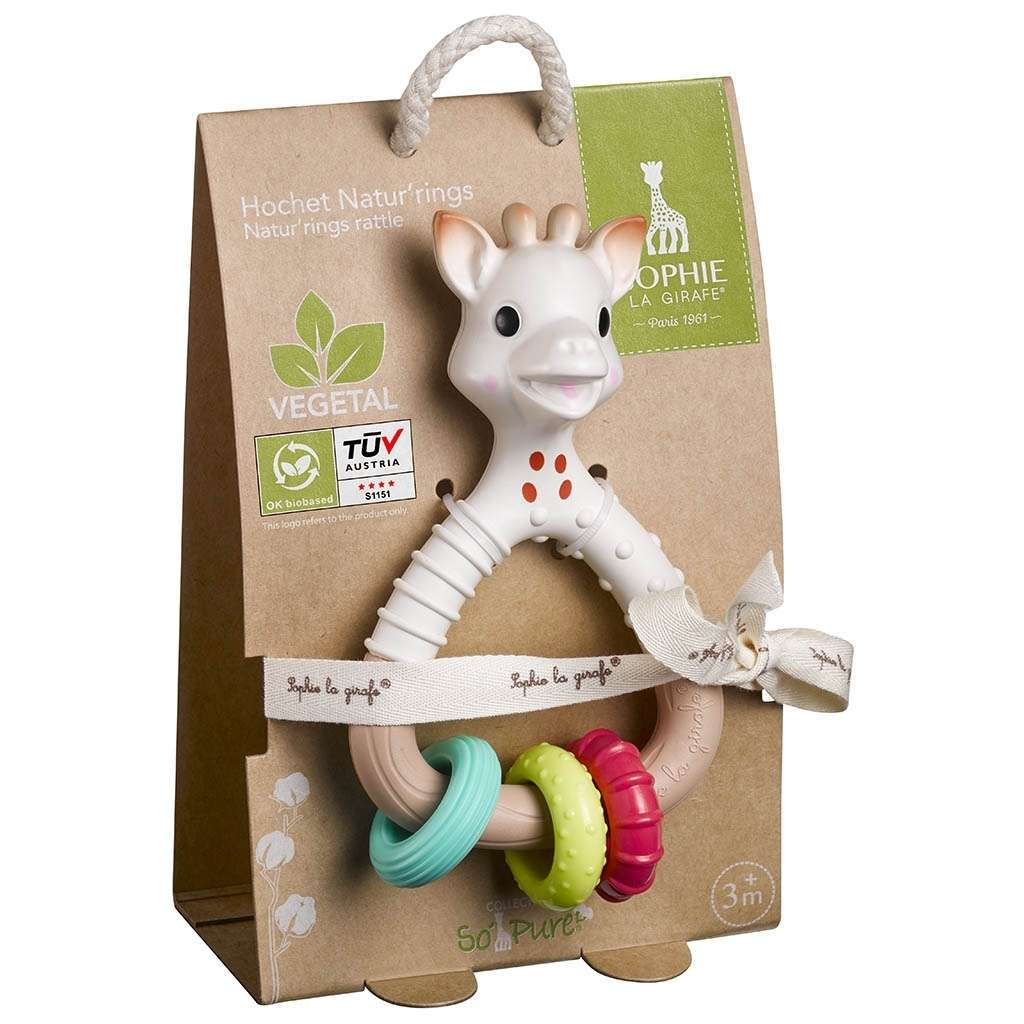 So'Pure Natur rings rattle Sophie la girafe® Spielzeug Vulli