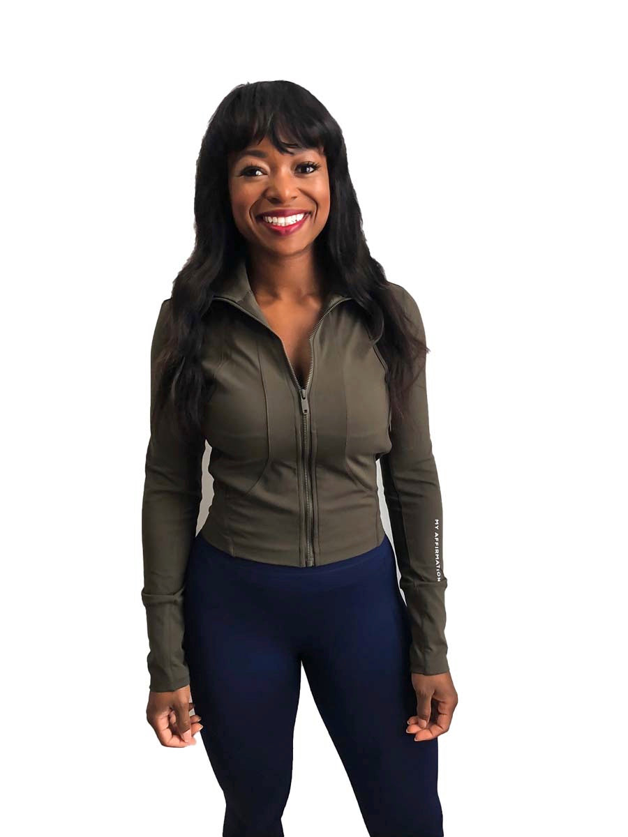 Forest Green Dream Mid-Crop Jacket - My Affirmation