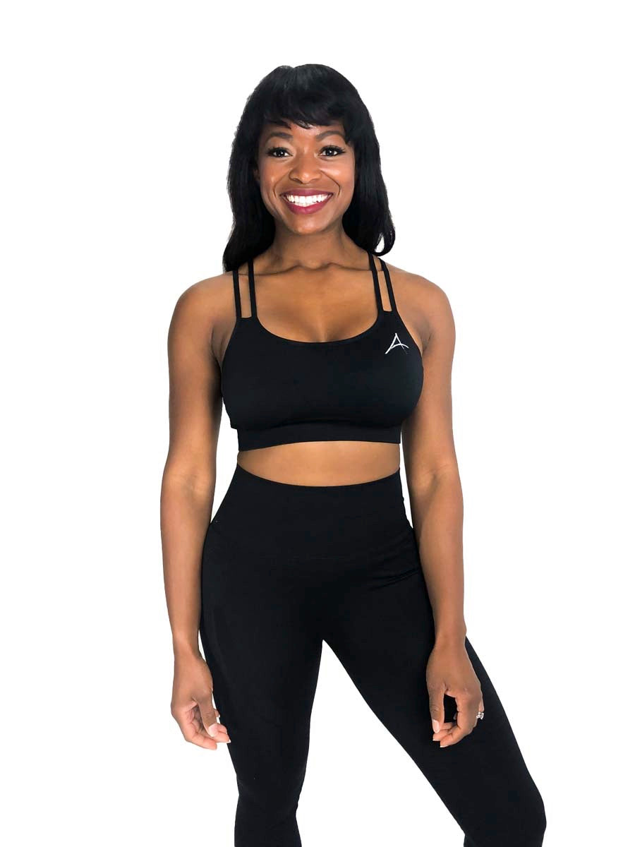 Black 2.0 Sports Bra - My Affirmation