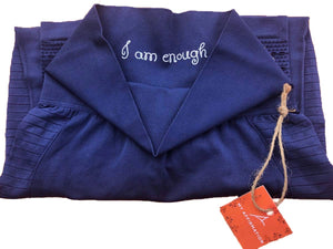 """ I Am Enough"" Royal Leggings - My Affirmation"