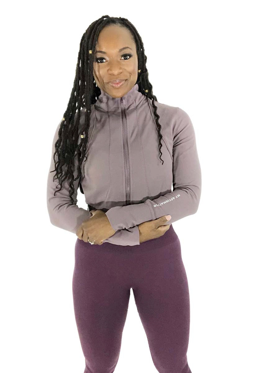 Mauve Dream Mid Crop Jacket - My Affirmation