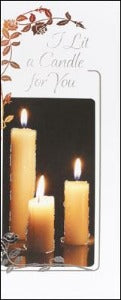 I Lit a Candle for You Card