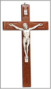 Wall Crucifix Olive Wood 15cm