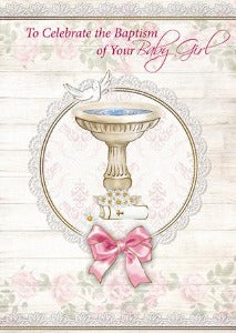 Baptism of Baby Girl Card