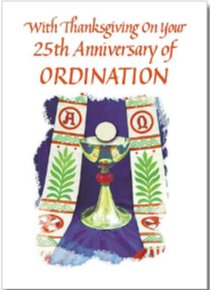 25th Anniversary of Ordination Card