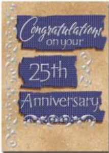 Congratulation on your 25th Anniversary Card