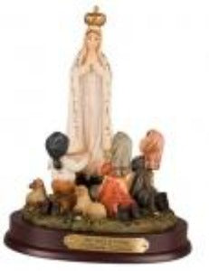 Our Lady of Fatima with Children 19 cm Statue