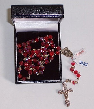 Rosary Red Crystal Beads
