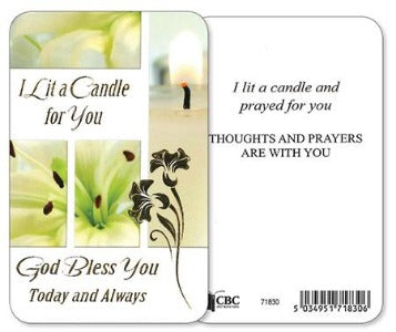 Prayer Card - I Lit a Candle
